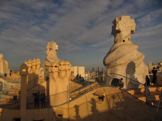 Terasa Casa Mila Barcelona La Pedrera Gaudi